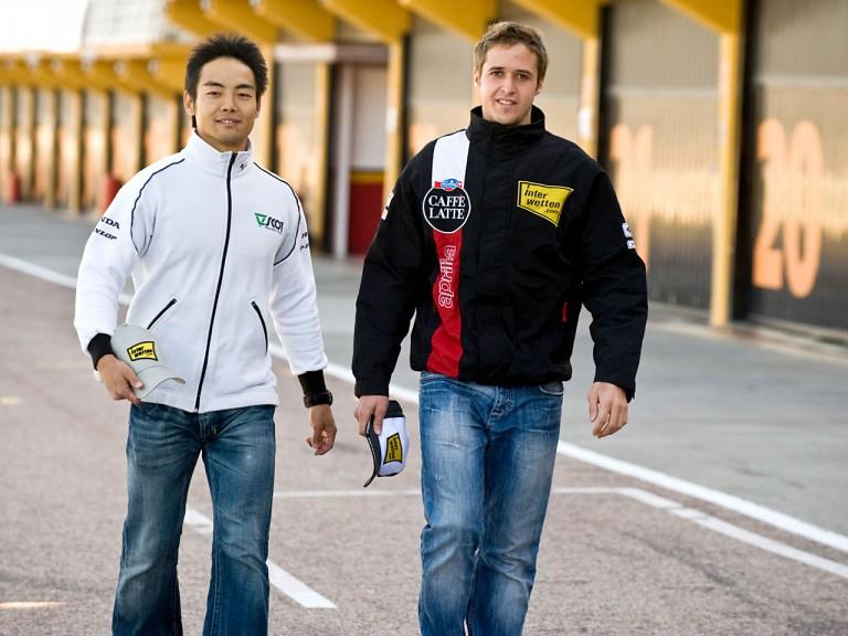 Interwetten riders Hiro Aoyama and Thomas Lüthi