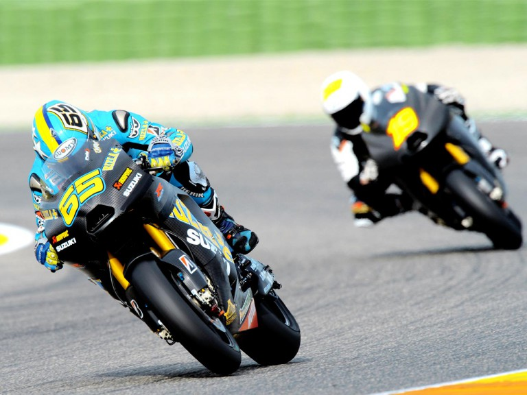 Capirossi and Bautista at the Valencia Post GP Test