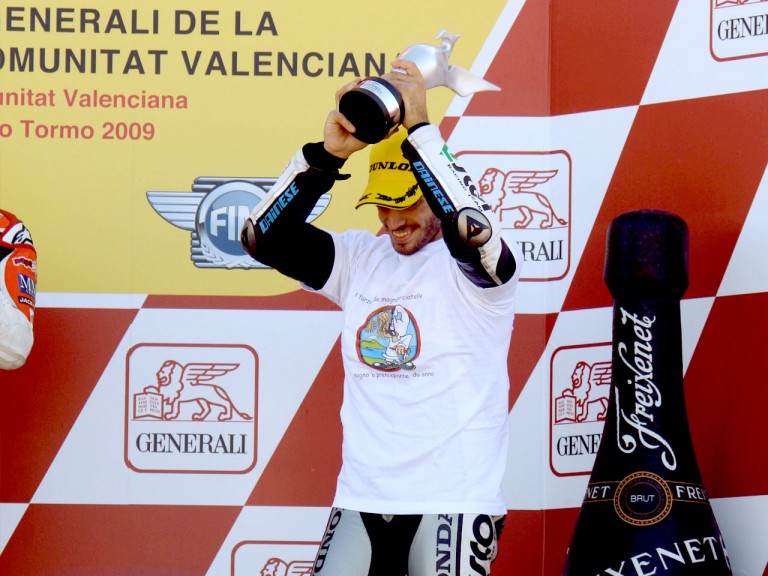 Raffaele de Rosa on the podium in Valencia