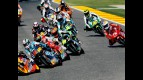 125cc Group in action in Valencia