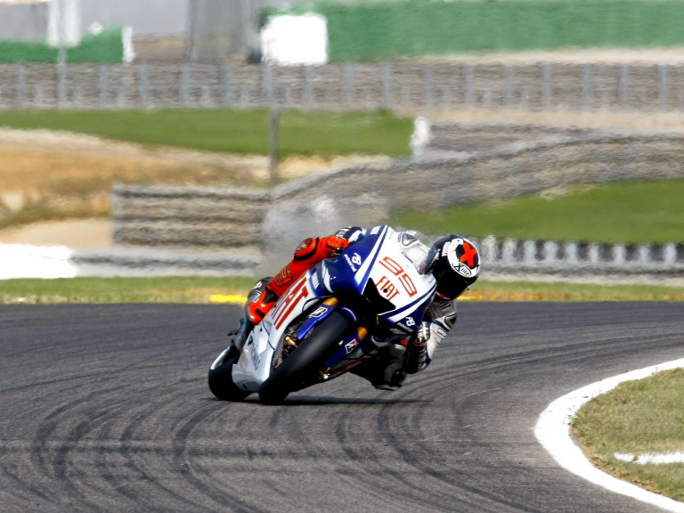 Jorge Lorenzo at the Valencia Post GP Test