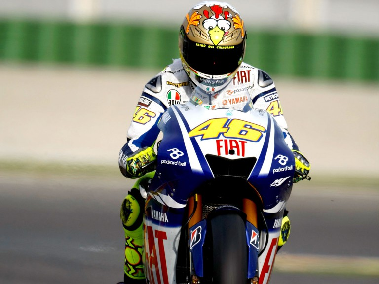 Valentino Rossi at the Valencia Post GP Test
