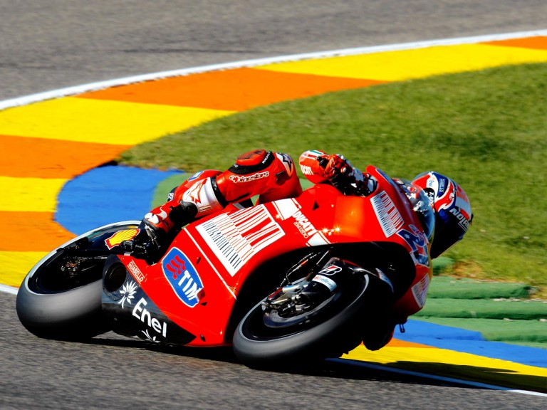 Casey Stoner at the Valencia Post GP Test