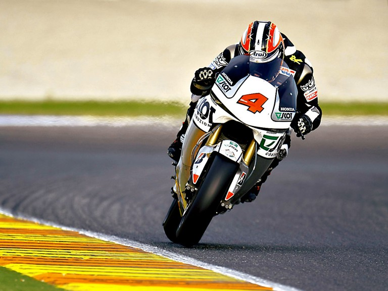 Hiroshi Aoyama in action at the Valencia Post GP Test