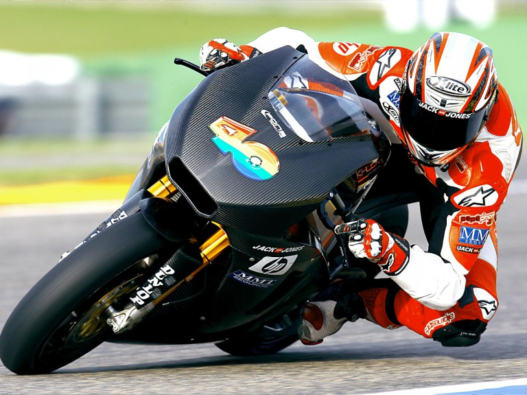 Axel Pons in action at the Valencia Post GP Test