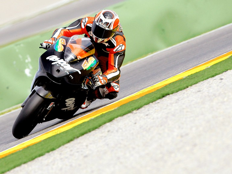 Héctor Barberá in action at the Valencia Post GP Test
