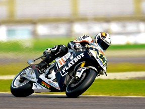 Randy de Puniet in action at the Valencia Post GP Test
