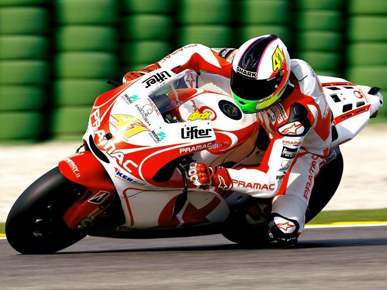 Aleix Espargaró in action at the Valencia Post GP Test