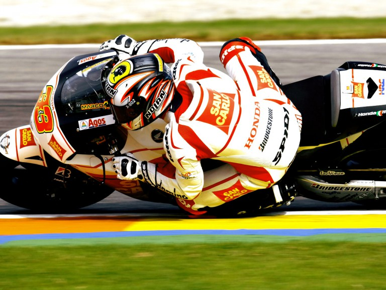 Marco Melandri in action at the Valencia Post GP Test