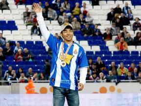 Hiroshi Aoyama visits RCD Espanyol in Barcelona