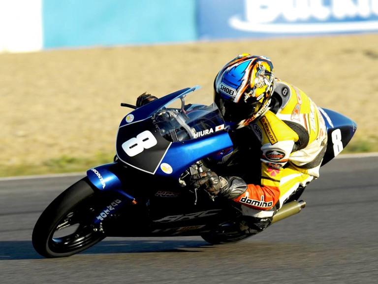 Dajiro Hiura in action in CEV Buckler in Jerez