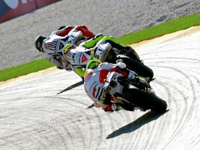 MotoGP action in Valencia