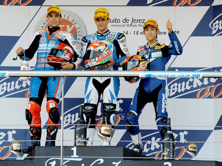CEV 2009 125GP podium