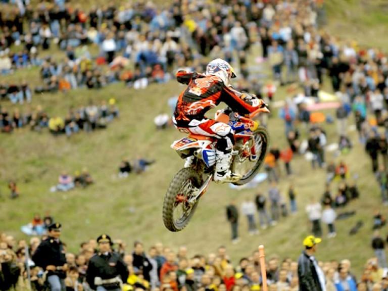 Andrea Dovizioso at Motocross dei Campioni