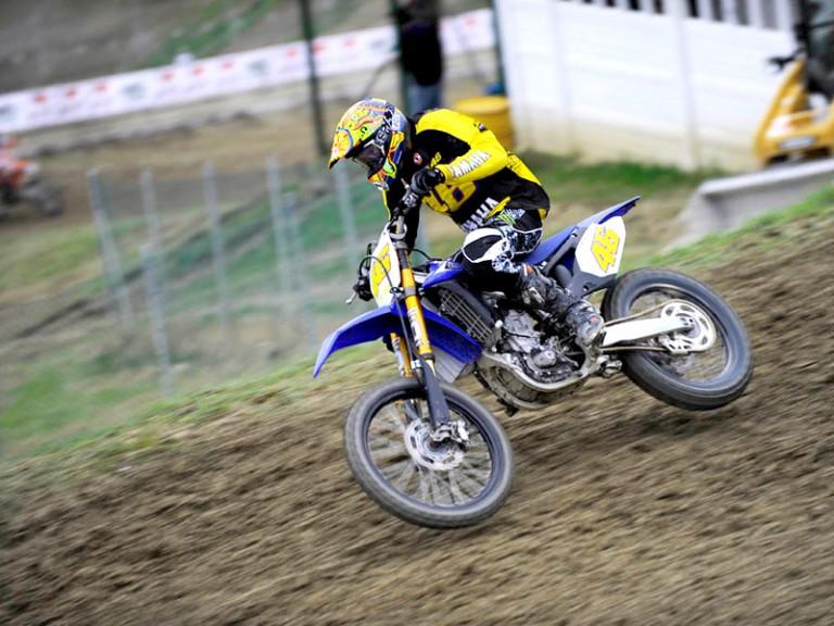 Rossi at Motocross dei Campioni