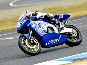 TSR6 Moto2 Bike in action