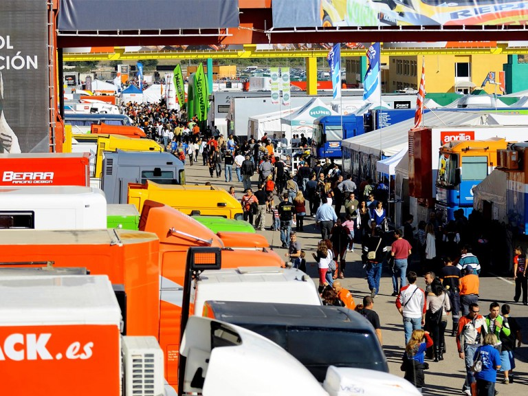 Paddock ambient at CEV in Valencia