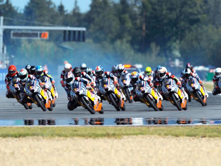 Red Bull MotoGP Rookies in action