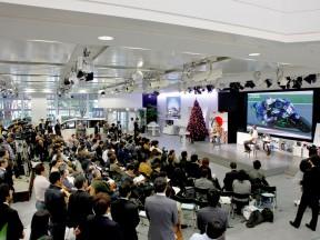250cc World Champion Hiroshi Aoyama press conference at HRC headquarter