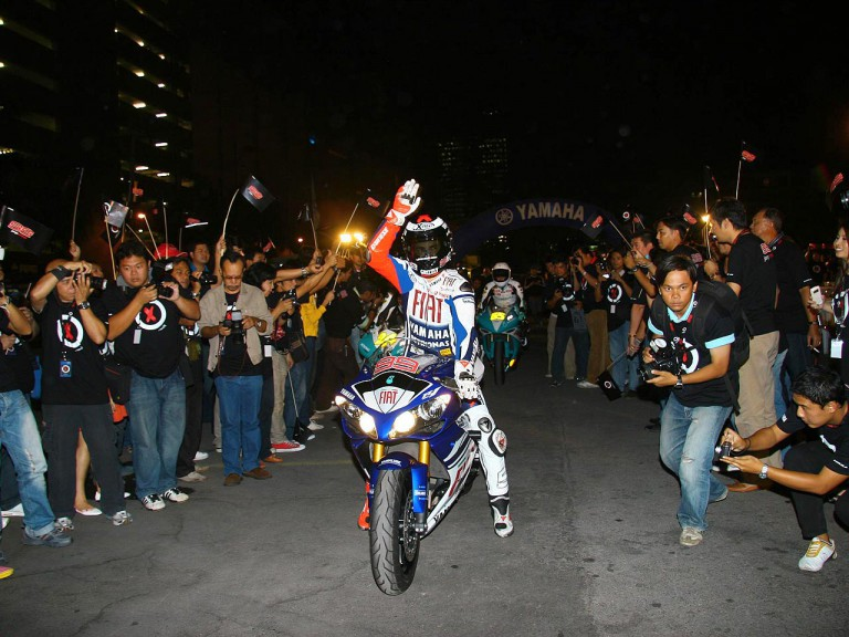 Jorge Lorenzo in Bangkok