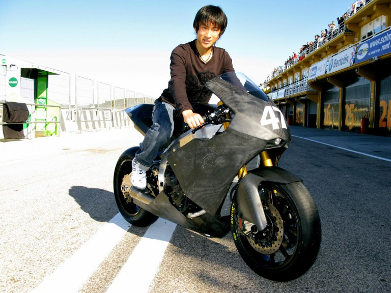 Shoya Tomizawa in Suter MMX Moto2 Prototype
