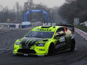 Valentino Rossi in action at the Monza Rally Show