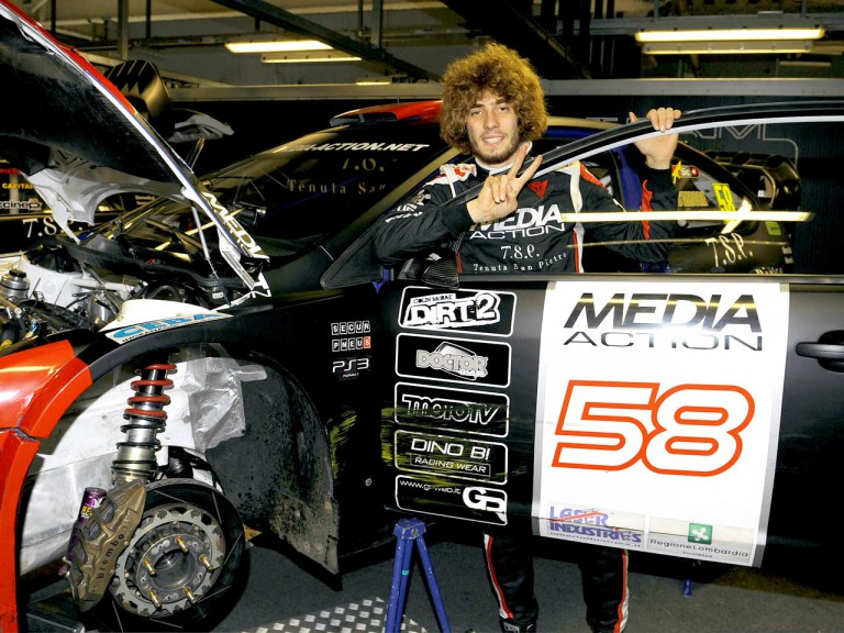 Marco Simoncelli at the Monza Rally Show