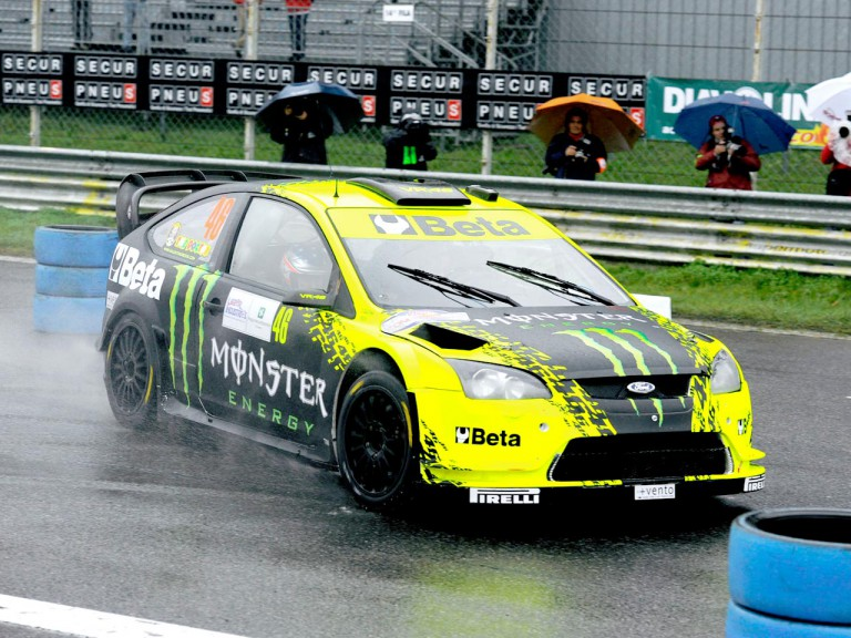Valentino Rossi at the Monza Rally Show