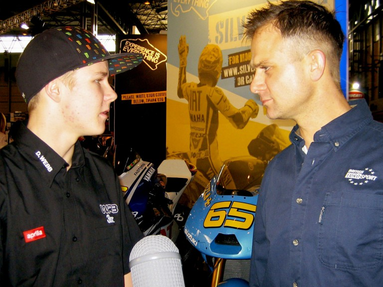 Danny Webb at the NEC Motorcycle Show