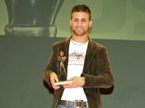 Mattia Pasini at Caschi d´Oro awards