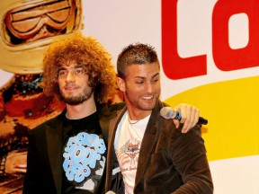 Simoncelli and Pasini at Caschi d´Oro awards