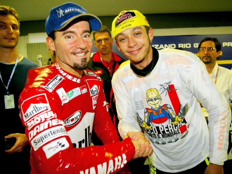 Max Biaggi and Valentino Rossi