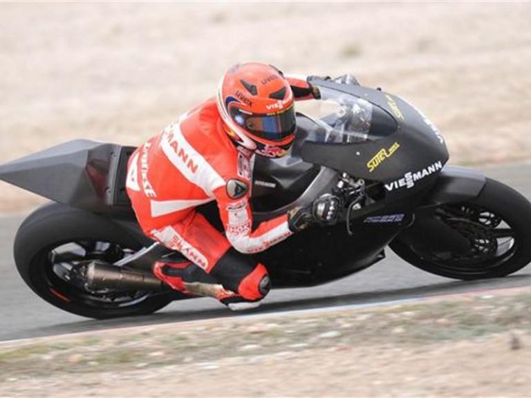 Bradl testing in Almeria Circuit