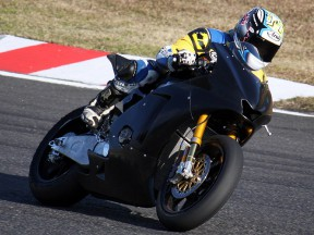 Moriwaki testing the new Moto2 bike
