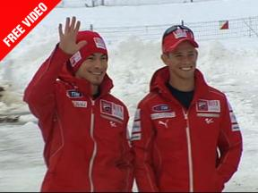 Stoner and Hayden kick off 2010 campaign in Madonna di Campiglio