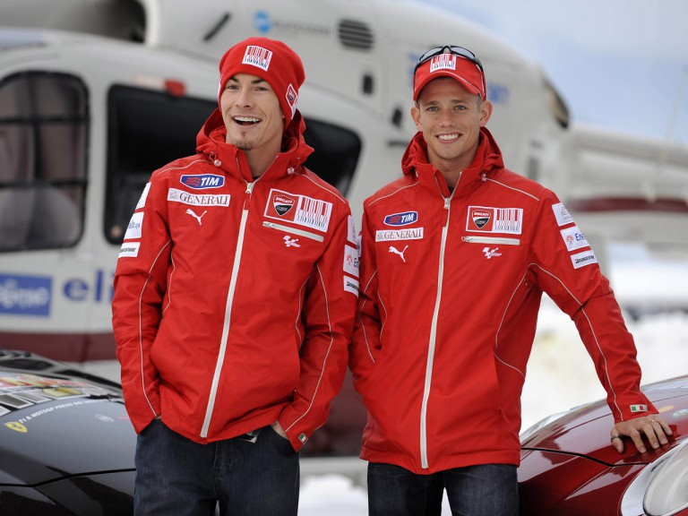 Wrooom 2010 - Nicky Hayden and Casey Stoner in Madonna di Campiglio