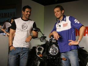 Valentino Rossi meets Indian actor John Abraham