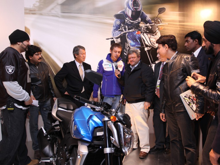 Valentino Rossi at the Auto Expo New Delhi