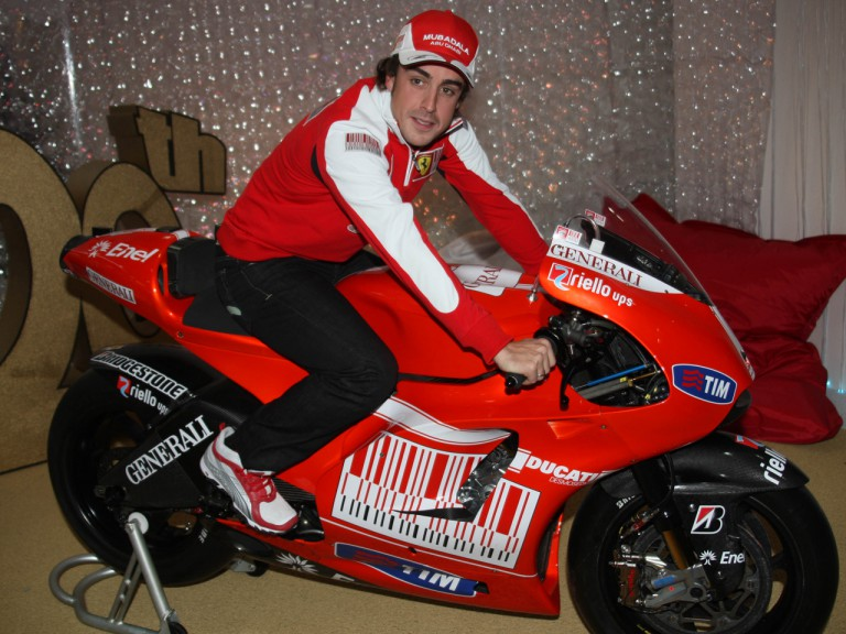Double F1 World Champion Fernando Alonso on the new Ducati Desmosedici GP10