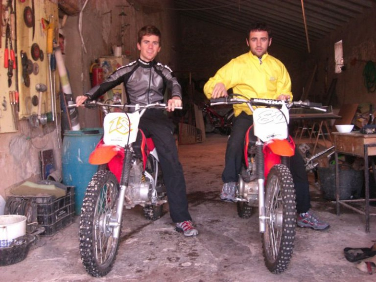 Barberá and Terol enjoy a motocross training session