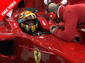 Rossi kicks-off Ferrari F1 Test at Catalunya