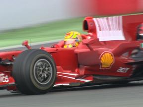 Rossi completes 1st day of testing with Ferrari