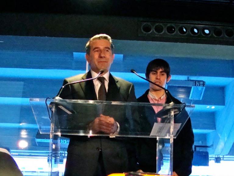 Jorge Martínez Aspar and Julián Simón at the Spanish GP presentation