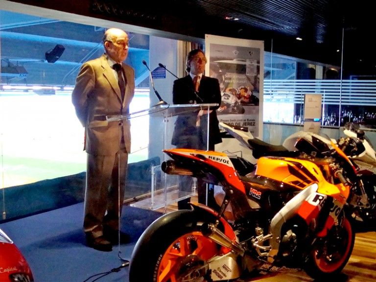 Dorna CEO Carmelo Ezpeleta at the Spanish GP Presentation