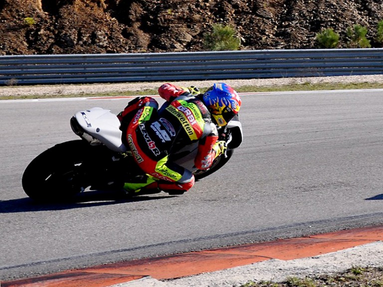 Dominique Aegerter at Technomag CIP Moto2 test