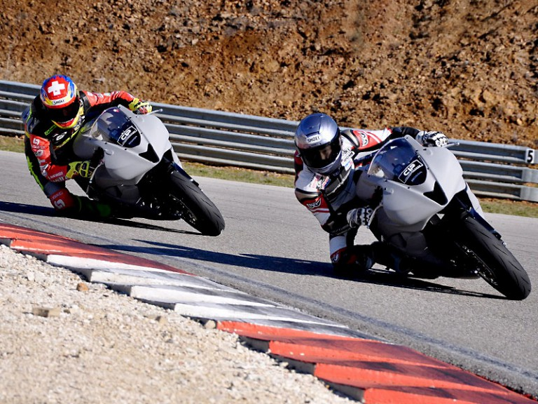 Tomizawa and Aegreter at Technomag CIP Moto2 test
