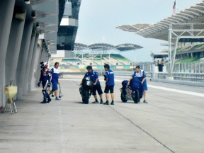 Pit Lane at the Sepang test