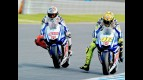 Lorenzo an Rossi riding head to head at Motegi