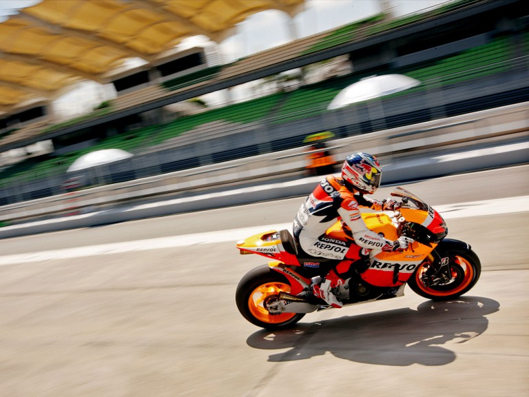 Andrea Dovizioso at the Sepang test