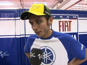 Rossi pleased after top time